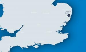Chediston solar park location map