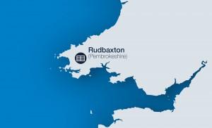 map for Rudbaxton solar park