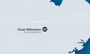 map of Great Wilbraham solar park