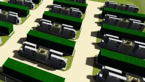 render of battery storage park