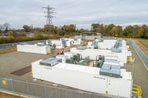 large battery storage park at Glassenbury