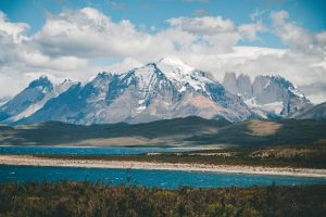 Landscape shot showing a mountain range - Low Carbon Certified B Corporation page